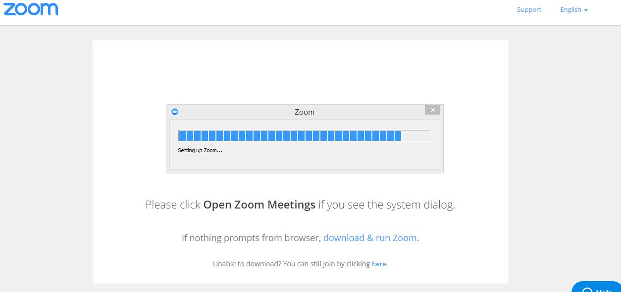 Zoom program